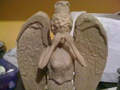 Turn a Barbie into a Weeping Angel Statue with a hot glue gun and textured spray paint. Geek Crafts, Crafts To Make, Fun Crafts, Arts And Crafts, Best Friend Gifts, Gifts For Friends, Best Gifts, Diy Gifts, Friend Moving Away
