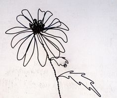 Wire Sculpting   Coneflower Wire Sculpture by WiredbyBud