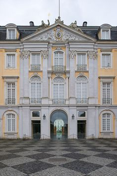 "Augustusburg palace, Brühl, North Rhine-Westphalia, Germany - Once me and my friends were playing a game of ""lets pretend the houses on our house boards are ours"" and mine only had things I wanted in my house, and they made fun of me. WELL NOW I LIVE IN A PALACE"