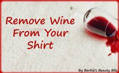 Craft your own wine remover...No more whining over a stain with this tip by Barbie's Beauty Bits. #Tips, #DIY