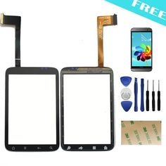 For HTC Wildfire S G13 touch screen digitizer version V3 Front Panel Outer Glass Digitizer Replacement Parts+Tools+Film+Adhesive
