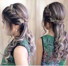 Resultado de imagem para penteados semi preso para madrinha de casamento