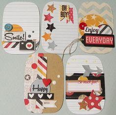Make scrapbook page embellies