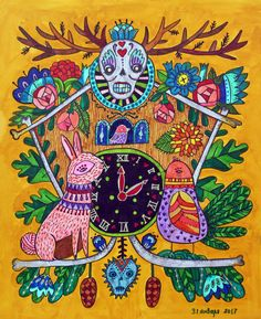 """My coloring of """"Day of the Dead"""" book by Sarah Walsh Hand Made Greeting Cards, Making Greeting Cards, Day Of The Dead, Coloring Books, Handmade, Day Of Dead, Vintage Coloring Books, Greeting Cards Handmade, Hand Made"""