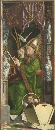 Kirchenvätelaltar. 1480. Alte Pinakothek München