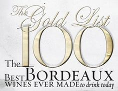 100 best Bordeaux. My favorite wine! also, an article from my daughters birthday:)