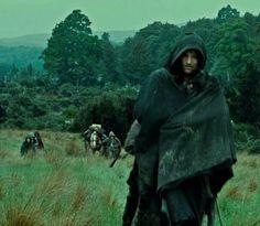 Aragon and the hobbits.