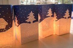 Pricken hat eine wundervolle Wirkung: Die Winterlichter | LaBlog, die Idéenfabrik von Labbé