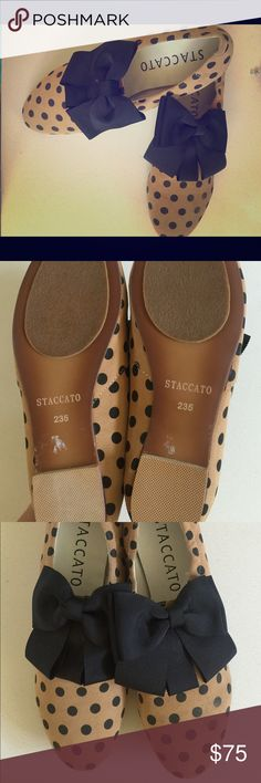 Brand new vintage shoes Vintage, super comfortable, polka dots, bow, I normally wear US size 6 or 5.5 Shoes Flats & Loafers