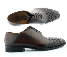 Men Luxury handcrafted shoe William Toe woven Chocolate Oscar William main image