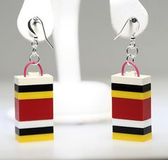 Lego Jewelry Earrings Unique & Funky by ToyBoxJewellery on Etsy, $12.50 #EtsyMarketplace