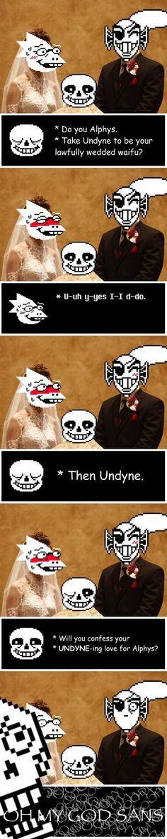 Sans' UNDYNE-ing puns