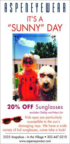 "Aspen Eyewear – It's A ""Sunny"" Day"