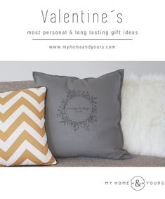 Valentine´s most personal and long lasting gift ideas! Unique Vintage, Valentines, Gift Ideas, Blog, Prints, Cushions, Quote, Figs, Valentine's Day Diy