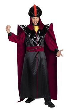 Prestige Jafar adult costume.  Hey, where is his cobra sceptre???