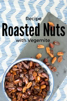 (Recipe) Australia Inspired Snack: Roasted Nuts with Vegemite Vegetarian Recipes Dinner, Snack Recipes, Vegemite Recipes, Roasted Nuts, Everyday Dishes, Food Inspiration, Healthy Snacks, Apps, Australia