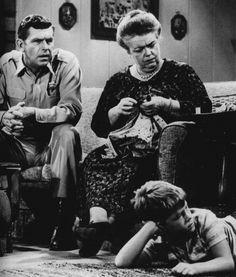 Aunt Bea, knitting.