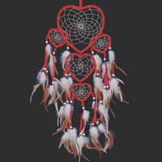 Cheap decorating style, Buy Quality decorative decorative directly from China decoration christmas Suppliers: 2016 Indian style big dream catcher hanging five love heart rings feather pendant car red christmas decoration Car Ornaments, Ornament Crafts, Handmade Ornaments, Hanging Ornaments, Big Dream Catchers, Dream Catcher Decor, Feather Dream Catcher, Red Love Heart, Handmade Wall Hanging