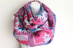 Tribal Oversized Fringed  Poncho Scarf Boho chunky scarf by myfashioncreations, $38.00