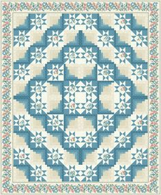 Seeing Stars quilt pattern by Jackie Robinson | Animas Quilts.  Stars and log cabin blocks.