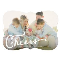 Handlettered Cheers | Holiday Photo Card - Photography courtesy of @mstallingsphoto  www.melissa-stallings.com