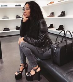 2ec0148d21 Draya Michele Instagram, Daily Fashion, Leather Sandals, Leather Pants, Draya  Michelle,