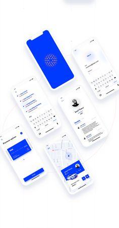 Mobile App Design: NYC Taxi App Concept using Adobe XD Source by sivanbachar Ui Design Mobile, App Ui Design, Interface Design, User Interface, Design Design, Application Design, Mobile Application, Application Development, Taxi App