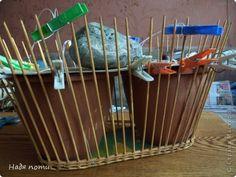 Поделка изделие Плетение Сумочка -корзинка Бумага журнальная фото 2