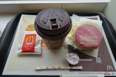 2015.01.02 Breakfast at McDonald's, the first in this year.