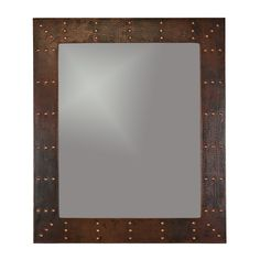 """Premier Copper Products Riveted Hand Hammered Copper Mirror & Reviews 
