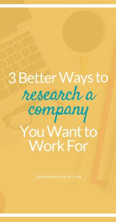 The Job Search Can Be Daunting. And You Want To Make Sure You Take The Time  To Do Your Due Diligence To Have An Educated Impression Of A Company Youu0027re  ...