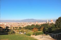Overview of Florence - Boboli Gardens