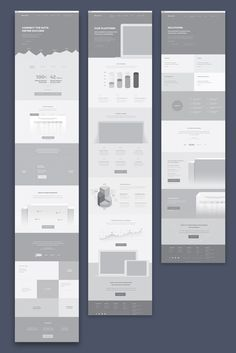Web-Design High fidelity product website wireframes by Website Design Inspiration, Website Design Layout, Web Layout, Layout Design, Design Design, Graphic Design, Wireframe Web, Wireframe Design, Responsive Web Design