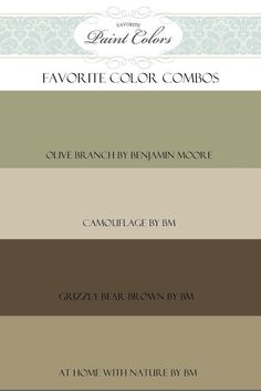 Olive Branch Color Combo | Favorite Paint Colors Blog