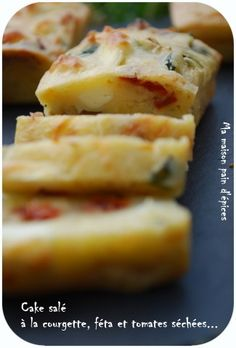 mini cakes courgette/feta/tomates sèchées
