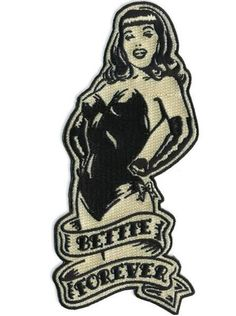 Love Bettie Page? Then this Bettie Page patch is for you. Bring your favorite pinup Bettie Page with you wherever you go. This is a terrific iron on patch that is sure to get you noticed by other Bettie fans. Pin Up Vintage, Retro Pin Up, Retro Art, Bettie Page, Pin And Patches, Iron On Patches, Pin Up Girls, Tatuagem Pin Up, Patch Design