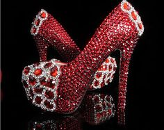 rhinestone wedding shoes luxury bling high heels sparkly crystal bridal shoes evening shoes party heels party shoes platform shoes on Etsy, $188.00