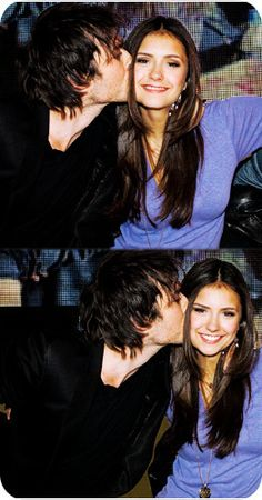 real life couple Ian Somerhalder and Nina Dobrev....<3