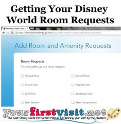 Getting Disney World Room Requests from yourfirstvisit.net