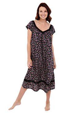 49cf1c954a Del Rossa Women s Adele 100% Cotton Long Victorian Nightgown