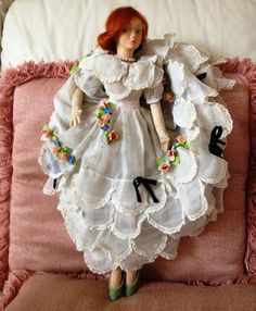 "Rare 19"" Lenci Boudoir Doll"
