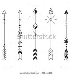 Set of vector minimalism/geometry/hipsterarrows/ design elements