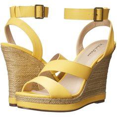 Michael Antonio Gate-Pu Women's Wedge Shoes, Yellow ($51) ❤ liked on
