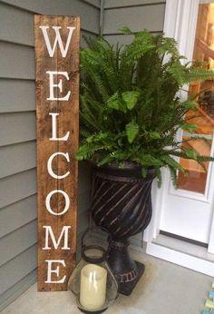 DIY Rustic Wood Welcome Sign