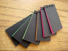 Colorful stab bound notebooks