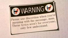 Twenty One Pilots Warning Sticker by StickyBunsDesigns on Etsy