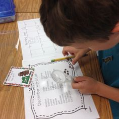 These holiday task cards by SOL Train Learning have words from our December calendar. Students are asked to find word chunks in these words. It was so much fun doing this with  little magnifying glasses. My kiddos were very engaged with this activity! Read more!