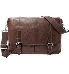 Main Image - Fossil 'Graham' Leather Messenger Bag