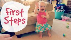 Baby Learning to Walk -- Baby's FIRST STEPS