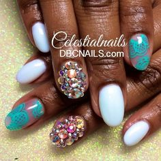 Perfect nails for summer  cc: @celestialnails | Based in the DMV area #iluvyourhair #iLyH #nails #nailfile #nailart #cutepolish #iluvyournails #nailpolish #nailartswag #naildesign #paintednails #nailpromote #nailstamp #lacquerlovers